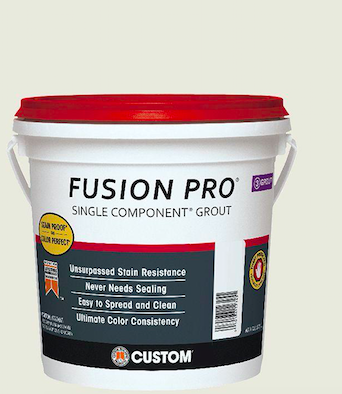 One of the many brands of powdered grout widely available