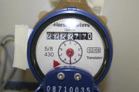 First photos of water meter, while not running, showing baseline reading.