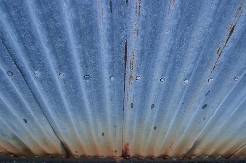 Acero corrugado, mostrando señales de oxidación