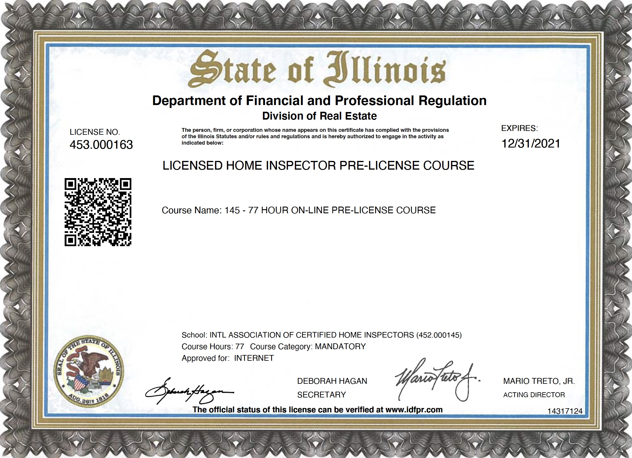Home Inspector Licensing In Illinois Internachi